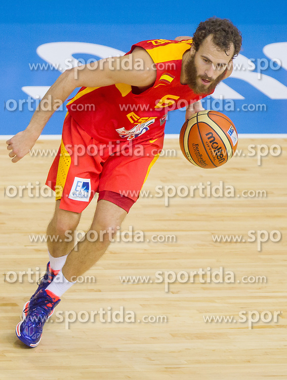 Sergio Rodriguez #6 of Spain during basketball match between National teams of Spain and Poland in Round 1 at Day 5 of Eurobasket 2013 on September 8, 2013 in Arena Zlatorog, Celje, Slovenia. (Photo by Vid Ponikvar / Sportida.com)
