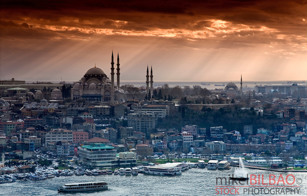 City eyesight at sunset.<br /> Istanbul, Turkey (2)