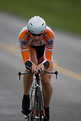 Guy East (SAK) during stage 1 of the Tour of Virginia.  The Tour of Virginia began with a 4.7 mile individual time trial near Natural Bridge, VA on April 24, 2007. Formerly known as the Tour of Shenandoah, the ToV has gained National Race Calendar (NRC) status for the first time in its five year history.
