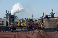 Taranto, 22/09/2012: Acciaieria ILVA, campi minerali - ILVA steel factory, mineral site.<br /> &copy;Andrea Sabbadini