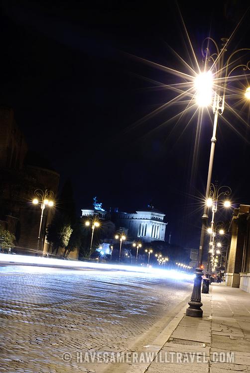 Foro Romano (Roman Forum) from Via dei Fori Imperiali