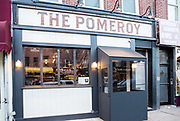 Astoria, NY - 8 December 2016.The entrance of The Pomeroy, at 36-12 Ditmars Blvd., in Astoria, NY.