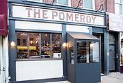 Astoria, NY - 8 December 2016.The entrance of The Pomeroy, at 36-12 Ditmars Blvd., in Astoria, NY.