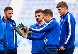 Bristol Rovers players gather on the pitch before the match - Mandatory by-line: Matt McNulty/JMP - 16/09/2017 - FOOTBALL - DW Stadium - Wigan, England - Wigan Athletic v Bristol Rovers - Sky Bet League One