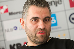 Boris Denic, head coach during press conference of Slovenia Men Handball team 1st day of 10th EHF European Handball Championship Serbia 2012, on January 15, 2012 in Hotel Srbija, Vrsac, Serbia.  (Photo By Vid Ponikvar / Sportida.com)