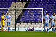AFC Wimbledon despair after defeat during the EFL Sky Bet League 1 match between Coventry City and AFC Wimbledon at the Trillion Trophy Stadium, Birmingham, England on 17 September 2019.