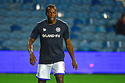 Queens Park Rangers defender Nedum Onuoha (5) warms up during the EFL Sky Bet Championship match between Queens Park Rangers and Derby County at Loftus Road, London, England on 14 December 2016. Photo by Jon Bromley.