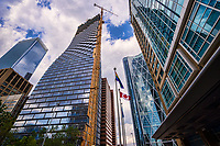 Brookfield Place, TELUS Sky, The Bow, Hyatt Hotel (left to right)