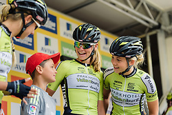 Parkhotel Valkenburg get to know their sign in companion at Aviva Women's Tour 2016 - Stage 5. A 113.2 km road race from Northampton to Kettering, UK on June 19th 2016.