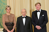 Israelische president Shimon Peres ontmoet Koning en Koningin