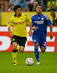 22.08.2010, Signal Iduna Park, GER, 1. FBL, Hinrunde 2010/2011, Borussia Dortmund vs Bayer 04 Leverkusen, im Bild: Shinji Kagawa (Dortmund JPN #23) vs Arturo Vidal (Bayer 04 Leverkusen #23), EXPA Pictures © 2010, PhotoCredit: EXPA/ nph/  Scholz..+++++ ATTENTION - OUT OF GER +++++ / SPORTIDA PHOTO AGENCY
