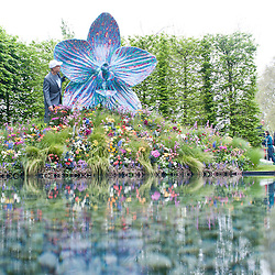 London, UK - 20 May 2013: Artist Marc Quinn  unveils his new sculpture that will be auctioned by Sotheby's as part of the RHS Centenary appeal to raise £1M to support the next generation of horticulturistsduring the RHS Chelsea Flower Show 2013 edition press day.
