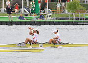 Poznan, POLAND,  POL W2X  winning the Gold medal in the  women's double sculls,  final at the 2009 FISA World Rowing Championships. held on the Malta Rowing lake, Saturday  29/08/2009  [Mandatory Credit. Peter Spurrier/Intersport Images]