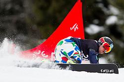 Edwin Coratti (ITA) during Quarter-final Run of Man's Parallel Giant Slalom at FIS Snowboard World Cup Rogla 2016, on January 23, 2016 in Course Jasa, Rogla, Slovenia. Photo by Urban Urbanc / Sportida