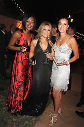 Left to right, singers KELLI YOUNG from Liberty X, HEIDI RANGE from The Sugababes and JESSICA PEITERSON from Liberty X at the End of Summer Ball in support of The Prince's Trust in Berkeley Square, London on 25th September 2008.