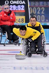 Wei Liu, Qiang Zhang, Wheelchair Curling Finals at the 2014 Sochi Winter Paralympic Games, Russia