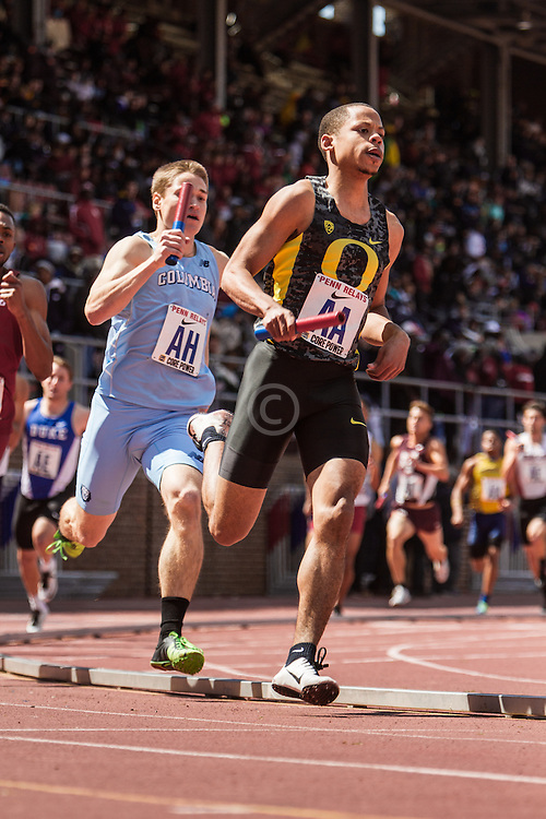 Penn Relays, College Mens Distance Medley Relay, Marcus Chambers, Oregon
