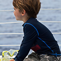 Young boy on boat
