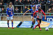 Exeter City Midfielder Lee Holmes on the attack during the Sky Bet League 2 match between Carlisle United and Exeter City at Brunton Park, Carlisle, England on 17 October 2015. Photo by Craig McAllister.