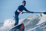 Will Taylor SUP surfing in SO Cal.