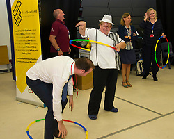 Pictured: The schoold cooks got into the hola-hoop challenge<br /> Inch by Inch for Scotland launched a major national obesity campaign today at Portobello High School. Chef Jordan Docherty was on hand to show how he turned his life around from drink and drugs in his early life with support from the campaign.  He was keen to show the school students that they could make healthy food on a budget and his version of a pot noodle made in five miutes went down well.    'Inch by Inch for Scotland' is a campaign aimed at reducing obesity amongst the population of Scotland by creating positive content aimed at teenagers and families to challenge them to take part in exercises or in preparing a healthier diet.<br /> <br /> The core idea for the campaign is to encourage teenagers and parents to do a small change or to take part in a small activity that will hopefully create an incremental change where people want to live healthier lives. Ultimately the goal is to change the culture of the nation, although we understand that we need to take small incremental steps at first – hence – 'Inch by Inch'.<br /> <br /> <br /> Ger Harley | EEm 7 September 2017