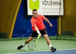 Maks Lukman in action during Slovenian National Tennis Championship 2019, on December 21, 2019 in Medvode, Slovenia. Photo by Vid Ponikvar/ Sportida