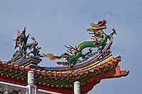 Spectacular roof art at Thean Hou Temple in Kuala Lumpur.