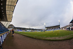 Looking towards the South Stand at Stark's Park, the home ground of Scottish football team, Raith Rovers F.C.