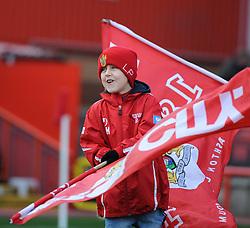 Flag Bearer - Photo mandatory by-line: Dougie Allward/JMP - Mobile: 07966 386802 - 22/11/2014 - Sport - Football - Bristol - Ashton Gate - Bristol City v Preston North End - Sky Bet League One