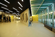 ground floor inside Maxxi museum Rome Italy with Sol LeWitt wall drawing 375