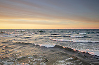Stormy evening over Lake Superior, seen from Au Sable Point. Pictured Rocks National Lakeshore Michigan