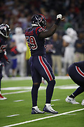 Houston Texans linebacker Whitney Mercilus (59) in action during the NFL week 8 regular season football game against the Miami Dolphins on Thursday, Oct. 25, 2018 in Houston. The Texans won the game 42-23. (©Paul Anthony Spinelli)