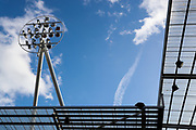 An image of one of the floodlights at AESSEAL New York Stadium before the EFL Sky Bet Championship match between Rotherham United and Sheffield Wednesday at the AESSEAL New York Stadium, Rotherham, England on 16 February 2019.