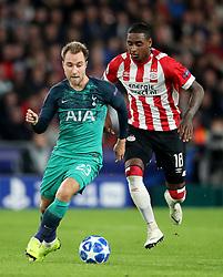 Tottenham Hotspur's Christian Eriksen (left) and PSV Eindhoven's Pablo Rosario (right)