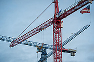 2018 APRIL 30 - Construction cranes in South Lake Union, Seattle, WA, USA. By Richard Walker