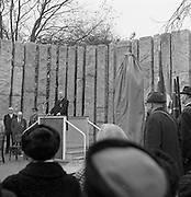 A Memorial to Wolfe Tone was unveiled at Stephen's Green, Dublin, by President Eamon de Valera..The bronze statue of Wolfe Tone was sculpted by Edward Delaney..18.11.1967