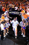 Apr 26, 2010; Phoenix, AZ, USA; Phoenix Suns forward Amare Stoudemire (1) runs to the court for warm ups prior to game five in the first round of the 2010 NBA playoffs at the US Airways Arena.  Mandatory Credit: Jennifer Stewart-US PRESSWIRE