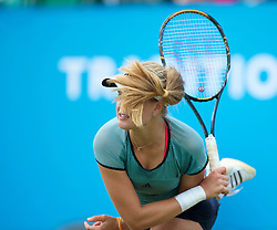LIVERPOOL, ENGLAND - Thursday, June 17, 2010: Eugenie Bouchard (CAN) during the Ladies' Singles on day two of the Liverpool International Tennis Tournament at Calderstones Park. (Pic by David Rawcliffe/Propaganda)
