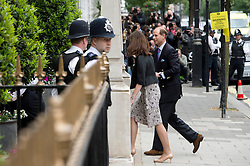 10/06/2013. London, UK. Prince Edward, Earl of Wessex arriving at The Clinic on Harley Street, London. Prince Philip, Duke of Edinburgh, who is celebrating his 92nd birthday, is currently recovering at the hospital after undergoing a planned operation to cure abdominal pains. Photo credit: Ben Cawthra