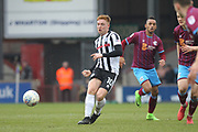 Goalscorer Callum Camps during the EFL Sky Bet League 1 match between Scunthorpe United and Rochdale at Glanford Park, Scunthorpe, England on 24 March 2018. Picture by Daniel Youngs.