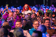 Dart fan in clown fancy dress during the Unibet Masters at stadium:mk, Milton Keynes, England on 31 January 2016. Photo by Shane Healey.