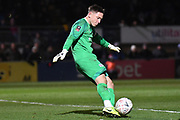 Tranmere Rovers goalkeeper Scott Davies (1) during the The FA Cup match between Wycombe Wanderers and Tranmere Rovers at Adams Park, High Wycombe, England on 20 November 2019.
