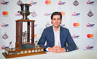 REGINA, SK - MAY 26: Defenceman of the Year Nicolas Hague of the Mississauga Steelheads at the Brandt Centre on May 26, 2018 in Regina, Canada. (Photo by Marissa Baecker/CHL Images)