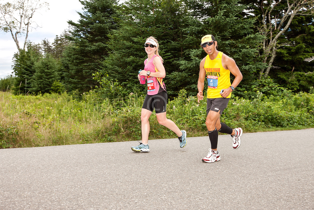 Great Cranberry Island Ultra 50K road race: Danielle and JC
