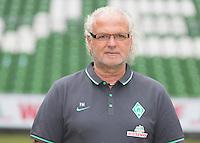 German Soccer Bundesliga 2015/16 - Photocall of Werder Bremen on 10 July 2015 in Bremen, Germany: equipment-manager Fritz Munder