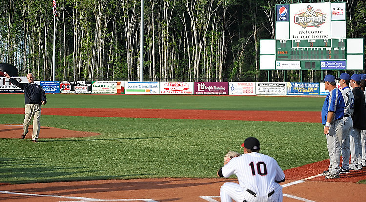 The Lake Erie Crushers won their first-ever game at All Pro Freight Stadium with a 5-2 win over the Windy City Thunder Bolts in Frontier League baseball action in Avon on June 2, 2009.