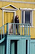 Woman in Barentsburg, Spitsbergen, Svalbard.