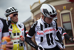 \juliso of Team Sunweb cools down after a hectic Stage 4 of the Healthy Ageing Tour - a 126.6 km road race, starting and finishing in Finsterwolde on April 8, 2017, in Groeningen, Netherlands.