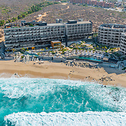 Aerial view of the Thompson the Cape hotel. Cabo San Lucas.