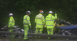 Reading Berkshire Wednesday 11th May 2016 <br /> Driver killed as lorry smashes through central reservation<br /> <br /> <br /> A 49-year-old lorry driver has died after his vehicle overturned on the M4 near Reading on Wednesday morning.<br /> <br /> Police have closed the motorway eastbound between junction 13 and 11 and two lanes have been shut on the westbound side of the carriageway.<br /> <br /> The eastbound closures have caused seven miles of tailbacks.<br /> <br /> The lorry, which crashed at just before 5am this morning, appears to have hit the central reservation and overturned. An investigation has been launched.<br /> <br /> Police do not expect the road to reopen until  six hours. The Eastbound Carriage  remains  closed with reports of 20 miles of tile backs.<br /> <br /> <br /> <br /> The lorry driver's family, who was from Essex, have been informed.<br /> <br /> Drivers 'abandoned cars'<br /> <br /> Thames Valley Police said the road closure will cause further disruption across the area, and has advised people to avoid the M4.<br /> <br /> One lane is open westbound but traffic continues to move slowly.<br /> <br /> The closure caused severe delays around Berkshire, with some drivers abandoning their cars.<br /> <br /> Yvonne Hillier was doing the school run in Tilehurst, but after sitting in traffic for two hours she chose to leave her car at a supermarket car park and walk home.<br /> <br /> She said: &quot;It was incredibly stressful, the traffic was at a complete standstill with no sign of improving.&rdquo; @UKNIP